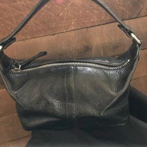 Latico NJ USA adorable black leather mini bag.
